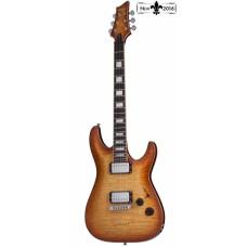 Schecter C-1 Custom NVB Elektro Gitar (Natural Vintage Burst)