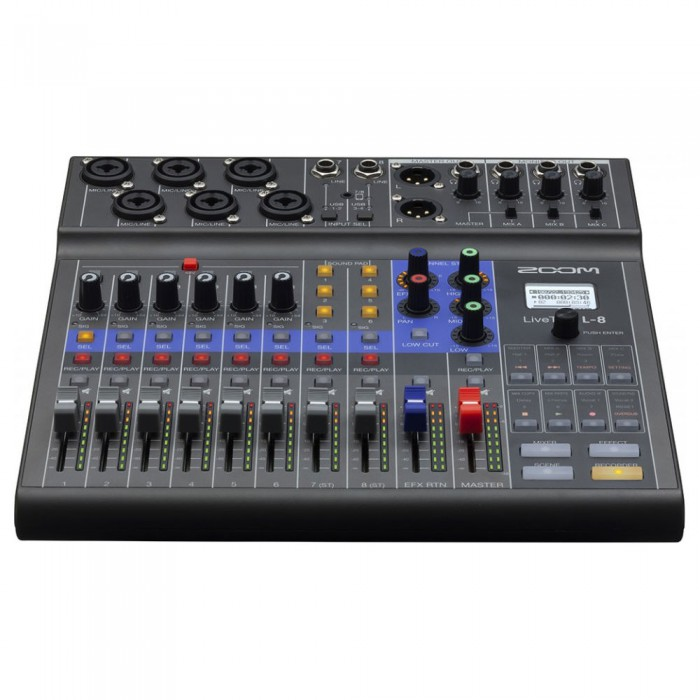 Zoom LiveTrak L-8 8-Kanal Dijital Mikser Recorder